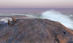 Beach Chairs and Gull (Cash Meili) Tags: thetrace beach beachchair seagull gull