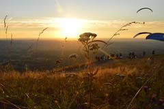 DSC_1685 (JustineChrl) Tags: sunset coucher de soleil auvergne france puydedome volcan montagne nature landscape paysage colors orange red blue sky clouds sun parapente parasailing nikon nikond3200 out