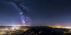 1 Night on the Hoher Kasten (PhiiiiiiiL) Tags: appenzell rhine valley hoherkasten milkyway panorama night nightshot switzerland stars starry