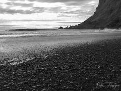 Black Sand Beach, Vik Iceland (Kat.Flanagan) Tags: blacksandbeach blacksand beach vik iceland islandia coast waves ocean sea rocks stones cliff mountain basalt travel traveling explore exploring europe vacation honeymoon landscape iphone iphonography natgeo ngc