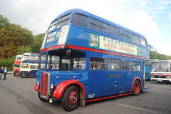 KLB596 (30mog) Tags: preserved bus coach transport showbus 2016 donnington aec regent iii rt browns blue klb596