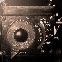 Sighting (EHPett) Tags: macromondays planestrainsandautomobiles b17 aluminumovercast waistgun sight dials wwii boeing flyingfortress