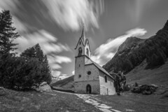 - Church In The Wild - (Mr. LookUP) Tags: nature reservation park nationalpark unique wildlife church wild clouds movement longtimeexposure longshutterspeed blackandwithe blackwhite building wideangle tripod trees italy landscape