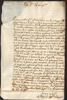Suor Angela Prata al fratello Francesco Prata, lettera del 8 giugno 1646 (ALPE, Testatori, b. 441)