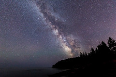 Milky Way and Otter Cliff 080216b copy (davidakoubian) Tags: acadianationalpark rockycoastline maine