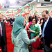 Maryam Rajavi offers flowers to Dr. Alejo Vidal Quadras President of the International Committee in Search of Justice (ISJ)