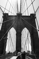 through the bridge (Justin Shaul) Tags: architecture city bridge brookylnbridge blackandwhite bw newyorkcity newyork
