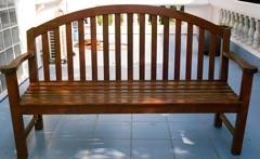 Teak garden bench 60