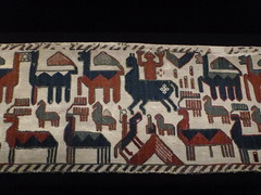 Figures And Beasts (Cozalcoatl) Tags: museum sweden viking 2012 tapestries norse jamtli overhogdal