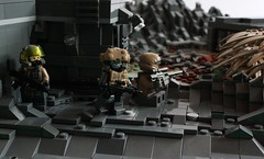 Operation Aftermath (Andreas) Tags: mountains lego scene thepurge legolandscape legousarmy legoforcedperspective usmilitarylego forcedperspectivescene
