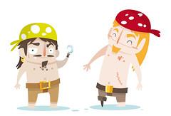 Ms piratas (Ana Rois Ortiz) Tags: illustration funny pirates vector piratas ilustracion