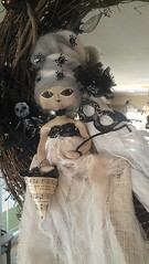 Masquerading (ShannyBannany) Tags: bear wedding decorations roses black halloween wool beautiful skeleton bride spider doll pretty hand veil mask lace painted ghost haunted spooky made masquerade gown custom gauze sewn cheesecloth