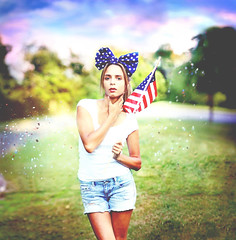 Patriotic Duty (rosalee mcgilvery) Tags: summer portrait selfportrait colors america self canon outside outdoors rainbow colorful flag 4th july patriotic confetti american expressive 4thofjuly expansion expand rosalee expressiveportrait rosaleigh 5dmarkii rosaleemcgilvery rosaleemcgilveryphotography