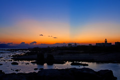 Favignana (vanto5) Tags: travel blue sea sky italy panorama water sunrise landscape countryside europe italia sicily paysage canoneos350d favignana isoleegadi canonef24105mmf4lisusm mygearandme