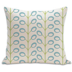Bud Organic Pillow in Surf, Lime, and Natural 18x18 (PURE Inspired Design) Tags: customfurniture organicfabric ecofriendlyfurniture woolrugs