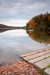 Boat Ramp (Dave Delay) Tags: autumn lake newhampshire nh dublinnh dublinlake