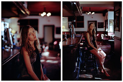 Anastasia Diptych (kenny ip) Tags: portrait london 120 film fashion mediumformat diptych 645 kodak 1600 contax pushed anastasia 6x45 portra lookbook carlzeiss contax645 portra400 planart 80mmf2 kennyip
