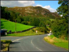 The Road To Ambleside (Steve.T.) Tags: road england sky landscape scenery fuji lakedistrict cumbria langdale elterwater skelwithbridge hs10 ommot
