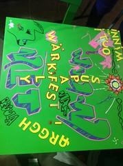 "Wärk:fest 2012 (Helsinki street art office Supafly) Tags: street streetart color art finland table graffiti helsinki colorful spray wdc graff hel graffitiart ""street art"" katutaide harrastus legalgraffiti nuorisoasiainkeskus worlddesigncapitalhelsinki2012 kierrätys miniatyyrigraffiti"