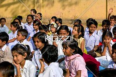 funny looks (peoplebino2012) Tags: school girls india female children asian student sitting south crowd innocent busy ethnic leaning groups inuniform groupofgirls onlygirls karnatakastate odanadi
