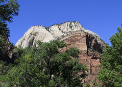 The Great White Throne (rschnaible) Tags: park blue red sky usa mountains southwest west rock landscape utah us day desert sunny clear national western zion northamericanmountains