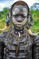 Mursi Tribe, Omo Valley, Ethiopia (Rod Waddington) Tags: africa park traditional tribal national omovalley ethiopia tribe mago mursi ethiopian jinka