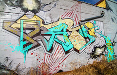 GETM (TheLost&Found) Tags: mn minnesota minneapolis mpls saintpaul graff paint art wall bridge train tracks aerosol aerosolart streetart msp urban street graffiti midwest twin cities exploration urbex bench benched benching freight rolling fall photography painted rail mid west color letters typography best creative minds thelostfound canon 7d eos getm hm heavy metal crew gang production burner large huge big