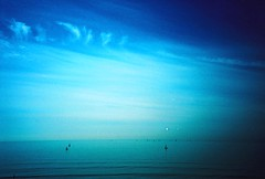 little boats on a big pond (fotobes) Tags: ocean blue sea sky clouds boats lca xpro brighton waves crossprocess horizon ripples yachts hanover cirrus agfaprecisa100 brightonmarina