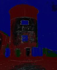Schloss Laudon - Laudon Castle (hedbavny) Tags: vienna wien abstract tower castle night austria nacht digitalart abstraction turm mlleimer narrenturm penzing sehenswrdigkeit laudon digitalabstract 1140 schlos mistkbel sterreichaustria mauerbach hadersdorf schlosslaudon mauerbachstrase htteldorffotobearbeitung