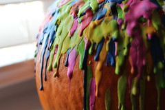 Melted crayons on a pumpkin (Jamie-Owens) Tags: