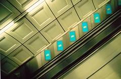 Escalator (Timm Ranson) Tags: london 35mm underground escalator fujisuperia