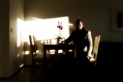 Slow time (Dag4) Tags: light shadow selfportrait me sunshine interior timer iphone pixlromatic