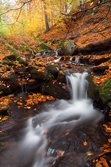 Autumn in Porter Brook (Paul Newcombe) Tags: uk autumn trees english water woodland river landscape photography waterfall october peakdistrict foliage british peaks cpl southyorkshire polariser porterbrook canon1740lf4 longgexposure nearsheffield nearfullwood
