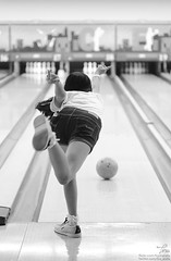 Knocking The Pins Down (Tira Arafa) Tags: bw bowling cleo jkt48