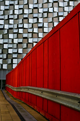 Red Against Silver (ClydeHouse) Tags: sheffield cheesegrater byandrew norfolkstreet borgcube charlesstreetcarpark