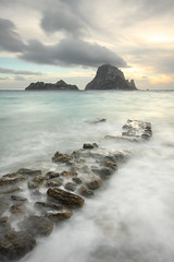 Cala d' Hort 261012-16 (Vivid Image) Tags: longexposure sunset sea beach rock clouds spain sand rocks dusk ibiza eivissa esvedra balearics caladhort