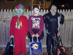 2012 Halloween Salem Trick or Treaters (Dex1138) Tags: halloween girl monster ma fun skull costume scary trickortreat zombie massachusetts clown ghost creepy spooky salem avengers 2012