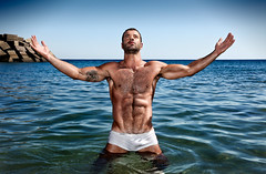 Leandro Duenas (Marcos Rivero / Fotógrafo) Tags: hairy beach wet tattoo hair agua hard playa homoerotic biceps navel package 3000 masculinidad hairylegs pubichair hombre hairypecs swimwear bañador visitas hardy bulge pecho peludo pezon hardman paquete masculino niple hairyman hairybelly manbulge paqueton pecholobo manpackage pechopeludo paquetorro