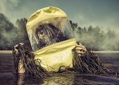 Toxic (LukeOlsen) Tags: usa toxic oregon river portland columbiariver hazmat sauvieisland hazmatsuit lukeolsen