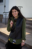 Leather + Velvet-2.jpg (LyddieGal) Tags: winter green leather fashion vintage outfit coach style velvet vest wardrobe oldnavy rayban layered thrifted