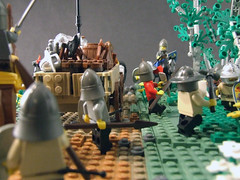 7 (Shadow Viking) Tags: castle wagon lego medieval knights historical cart raid supplies normans wain waggon 12thcentury dray footsoldiers 1100s supplylines crossbowmen anglonormans attritionwarfare