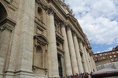 The Crowds Look Like Ants (Jocey K) Tags: sky people italy rome building architecture buildings design steps stpetersbasilica vaticancity coloums cosmostour6330