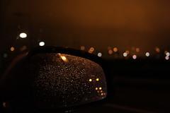 Apocalypse (PictureWendy) Tags: light brown car rain lights mirror drops bokeh apocalypse raindrops