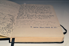 210. (larrycavalcante) Tags: old pink music white love moleskine dark paper notebook parents couple dad quote picture