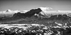 Nanga Parbat, K2 in the distance. (Jon Bowles) Tags: bw mountains landscape mono sony aerial infrared karakoram nex nanga parbat 5n 665nm