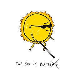 Sun is blind. (cooeedesign) Tags: travel wedding sea music usa david london art beach nature water make japan architecture illustration canon advertising poster square typography design cool flickr graphic creative squareformat font type 365 everyday something cooee delahunty iphoneography instagramapp