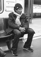 Effetto metro (Claudia Celli Simi) Tags: blackandwhite bw italy man rome roma italia metro bn uomo ritratto dormire biancoenero lazio stanchezza mezzoditrasporto