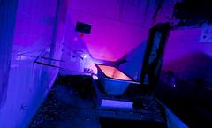 BaTh TiMe (Cowboy 55) Tags: pink house abandoned mirror bottle bath purple flash creepy tokina tiles nut asylum derelict wkd strobist