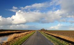 Heading for Noordpolderziel, the place where you can let your imagination run wild.... (powerfocusfotografie) Tags: road sky haven clouds landscape harbour henk noordpolderzijl nikond90 powerfocusfotografie mygearandme