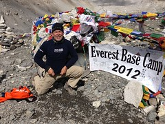Representing BolderBoulder at Mount Everest Base camp on 10/26/2012